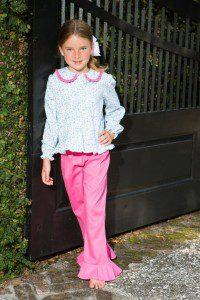 CrescentFloral Pink Pant Set