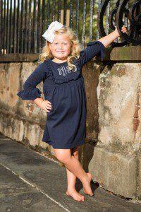 CrescentKnit Navy Bib Dress