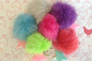 Pink Chickenbari lynn keychains