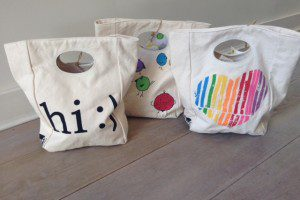PinkChickenfluf lunch totes