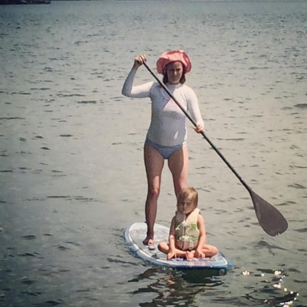 Like mother, like daughter. Penelope and me paddle boarding together this past summer at Lake Lanier in Georgia.