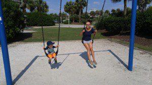 swings, beach