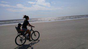 bike ride, beach
