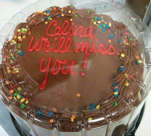 cake, going away