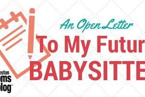 Open Letter to Babysitter