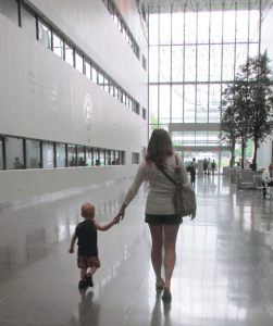My Son and I visiting the Cleveland Clinic for a follow up with the oncologist.