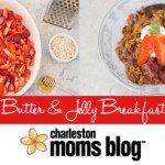 Peanut Butter & Jelly Breakfast Cobbler