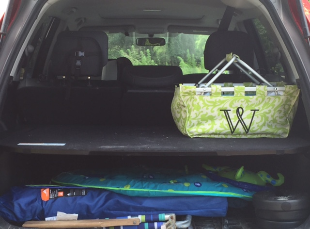 don't mind the other car essentials - beach chairs!