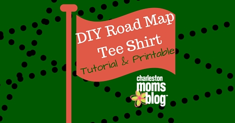 photograph regarding T Shirt Pattern Printable titled Do-it-yourself Highway Map Tee Blouse Guide and Printable
