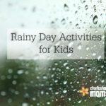 Simple Rainy Day Activities