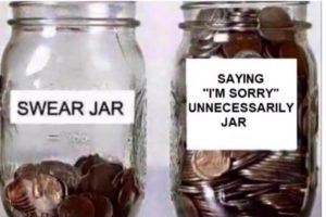 swear jar sorry