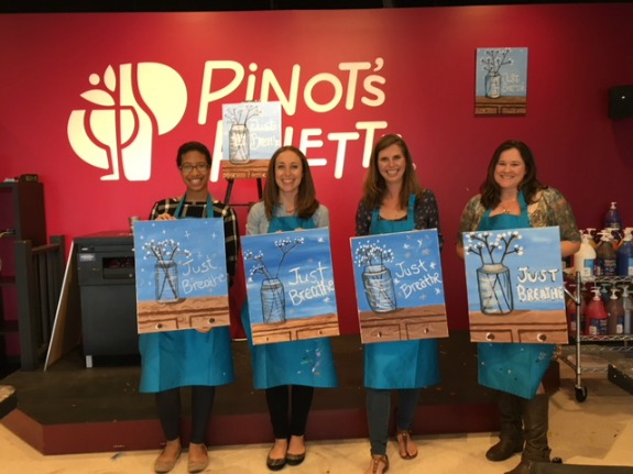 Paint & Sip at Pinot's Palette!
