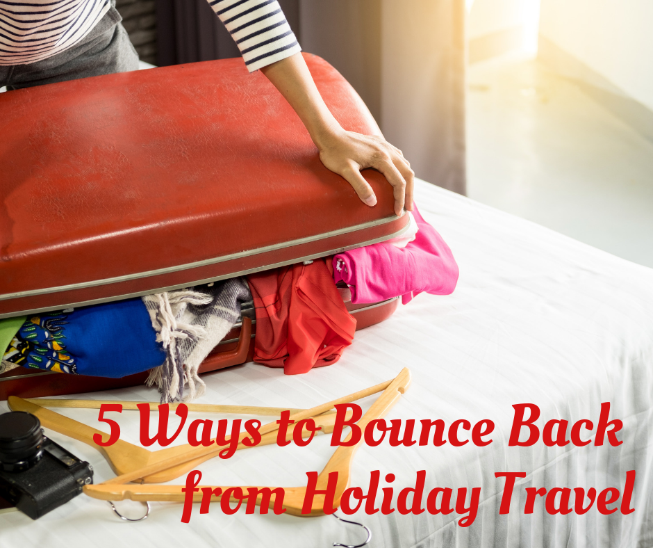 suitcase - 5 ways to bounce back from travel